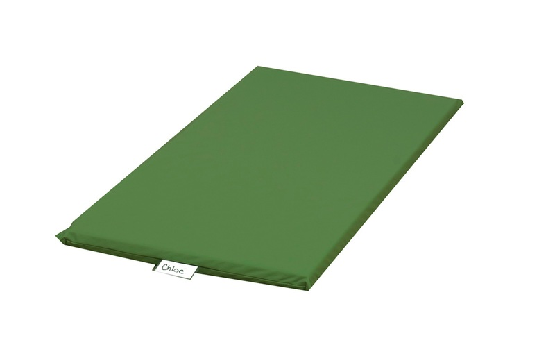 The Children's Factory Sewn Vinyl Rainbow Rest Mat: Green