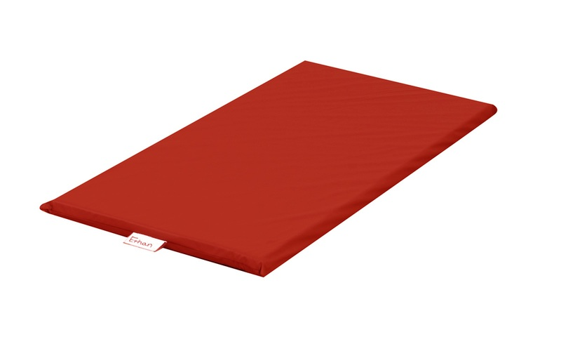 The Children's Factory Sewn Vinyl Rainbow Rest Mat: Red