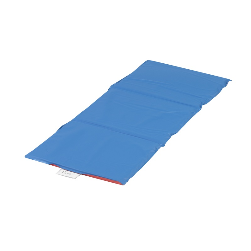 "The Children's Factory 0.75"" Thick Infection Control Mat: 3 Sections, Red/Blue"