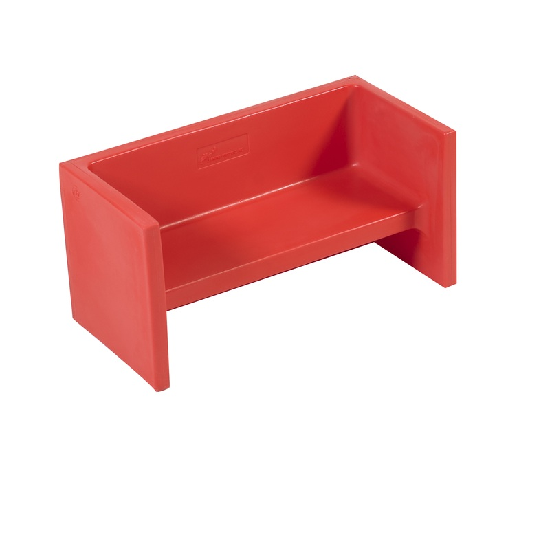 The Children's Factory Adapta-Bench: Red
