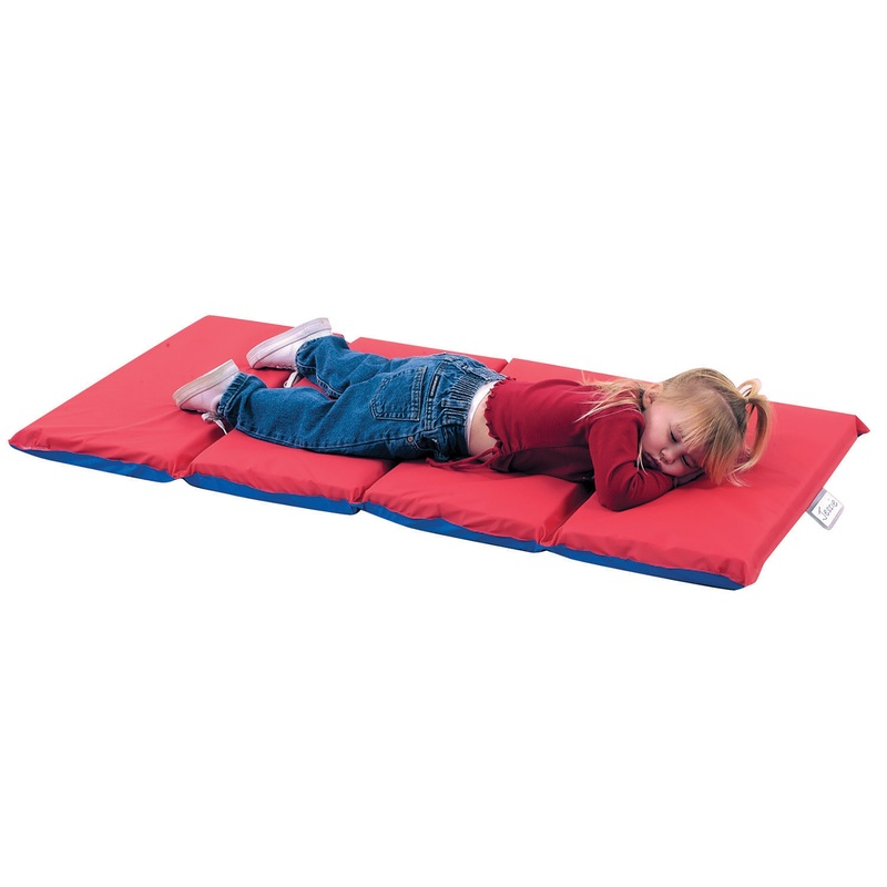 "The Children's Factory 2"" Thick Infection Control Mat: 4 Sections, Red/Blue, Pack of 5"