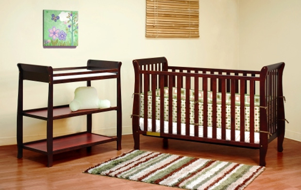 AFG Naomi 4-in-1 Convertible Crib: Cherry