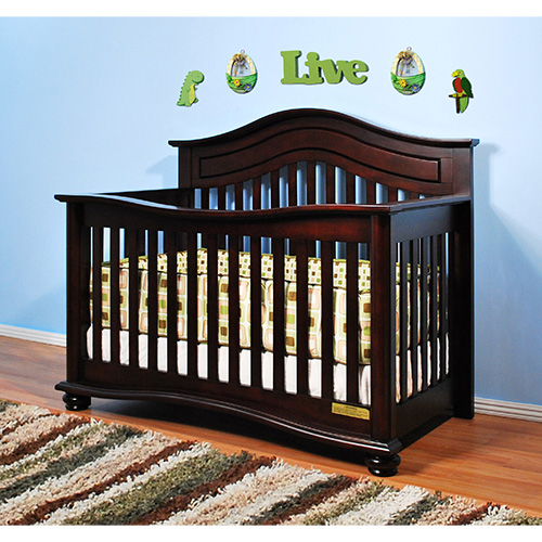 AFG Lia 3-in-1 Convertible Crib: Cherry
