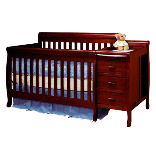 AFG Kimberly 3-in-1 Convertible Crib and Changer Combo: Espresso