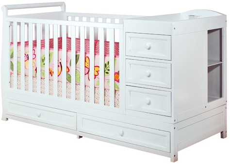 AFG Daphne I 3-in-1 Convertible Crib: White