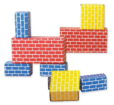 Edushape® Corrugated Blocks: 52 Pieces