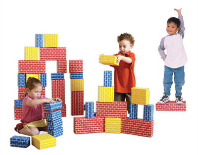 Edushape® Corrugated Blocks: 84 Pieces