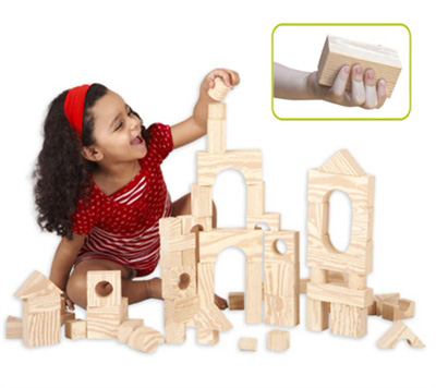 Edushape® Wood-Like-Soft Blocks: 30 Pieces, Boxed