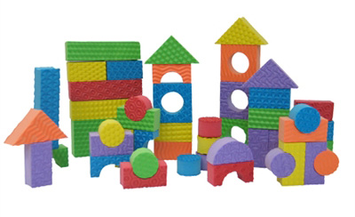 Edushape® Textured Colored Blocks: 30 Pieces