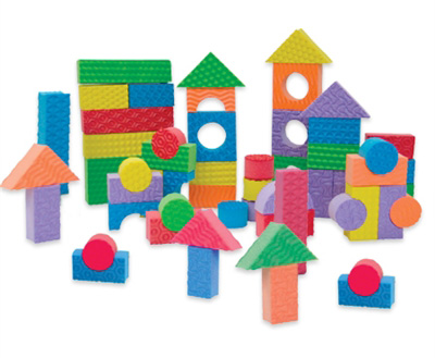 Edushape® Textured Colored Blocks: 80 Pieces