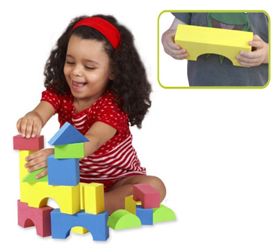 Edushape® Educolor Blocks: 30 Pieces, Boxed