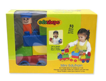 Edushape® Mini EduTrain: 30 Pieces, Bagged