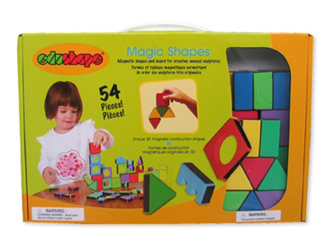 Edushape® Magic Shapes: Board, 54 Pieces