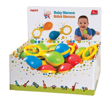 Edushape® Baby Maracas Display: 24 Pieces