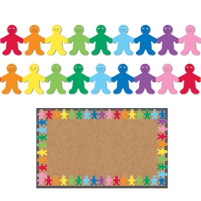 Hygloss Classroom Borders Rainbow Kids Bulletin Board