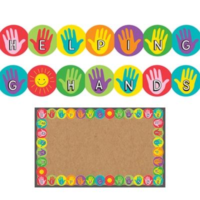 Hygloss Classroom Borders Helping Hands Bulletin Board Borders Online Kid Stuff Station