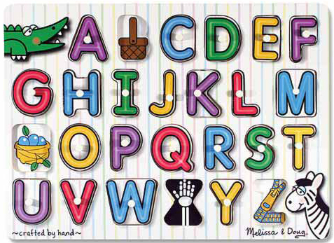 See-Inside Alphabet Peg Puzzle: 26 Pieces, 3+ Years