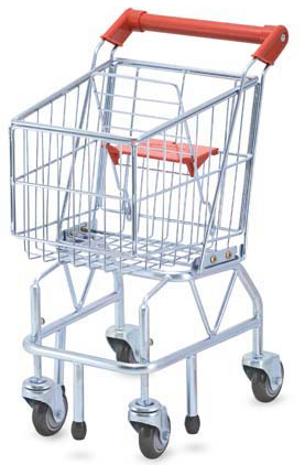 Shopping Cart Toy - Metal Grocery Wagon: 3+ Years