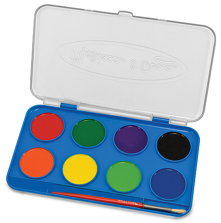 Jumbo Watercolor Paint Set: 8 Colors, 3+ Years