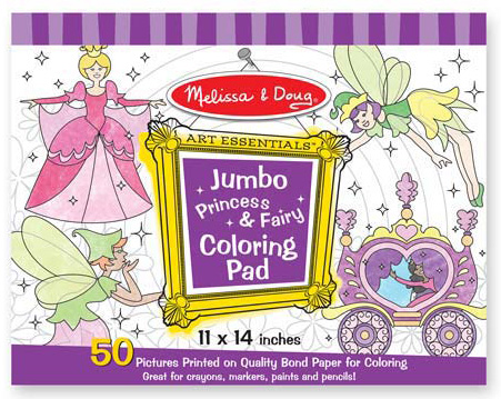 Jumbo Coloring Pad - Princess & Fairy: 3+ Years