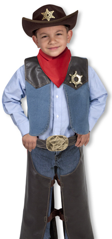Cowboy Role Play Costume Set: 3 - 5 Years