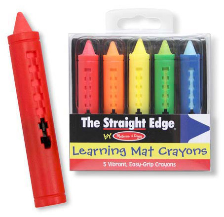 Learning Mat Crayons: 3+ Years