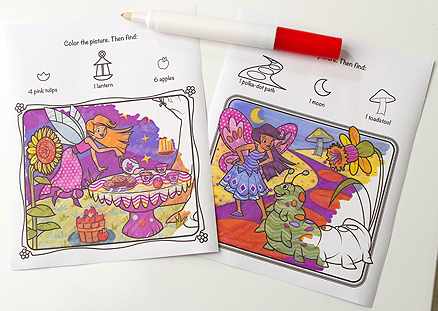 Fairies Colorblast Book - On the Go Travel Activity: 3+ Years