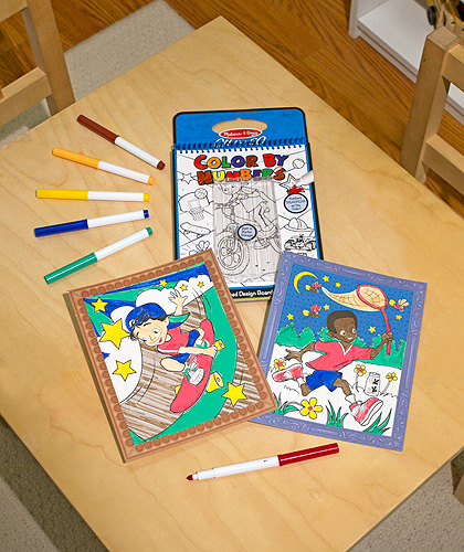 Color by Numbers Blue - On the Go Travel Activity: 5+ Years