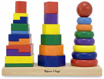 Geometric Stacker Toddler Toy: 2+ Years