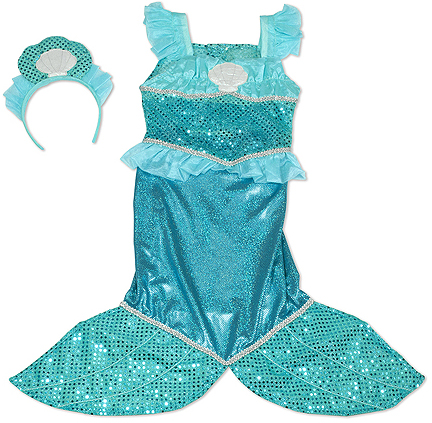 Mermaid Role Play Costume Set: 3 - 6 Years