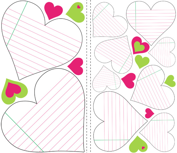 RoomMates Heart Notepad Dry Erase Wall Decals
