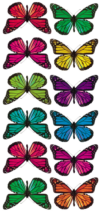 RoomMates 3D Butterflies Wall Decals