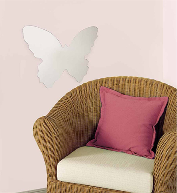 RoomMates Butterfly Peel & Stick Mirror