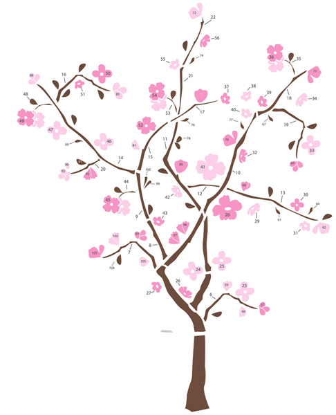 RoomMates Spring Blossom Tree Giant Wall Decal