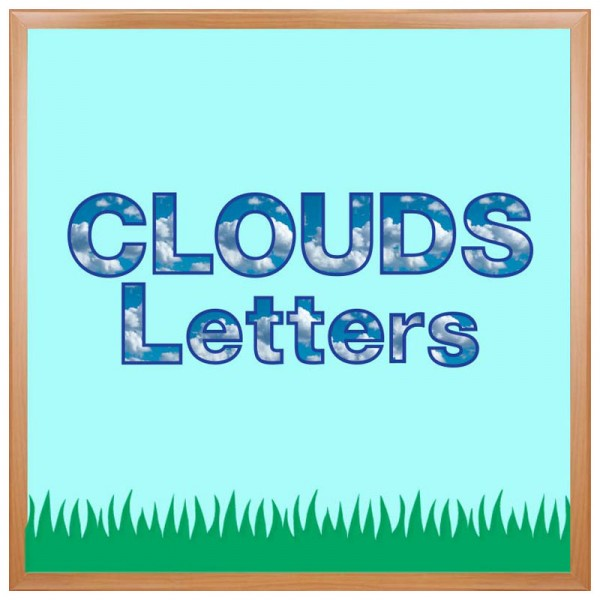 Hygloss Clouds Bulletin Board Letters