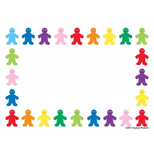 "Hygloss Name Tags - 36 ct., 3.5"" x 2.5"" - Rainbow People"
