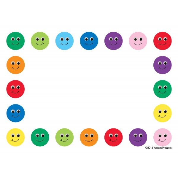 "Hygloss Name Tags - 36 ct., 3.5"" x 2.5"" - Smiley Faces"
