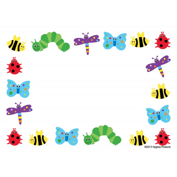 "Hygloss Name Tags - 36 ct., 3.5"" x 2.5"" - Bugs"