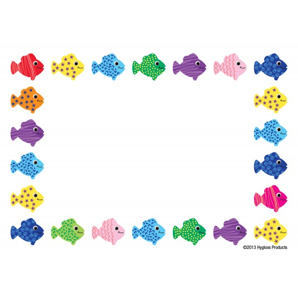 "Hygloss Name Tags - 36 ct., 3.5"" x 2.5"" - Assorted Fish"