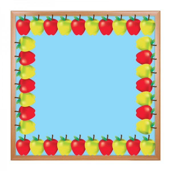 "Hygloss Border - 12 Borders Ea. 3""x36"" - Green and Red Apples"