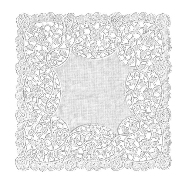 "Hygloss Doilies - Specialty: 100 ct., 8"" White Square"
