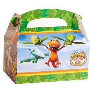 Dinosaur Train Empty Favor Boxes (4): Multi-colored, Birthday