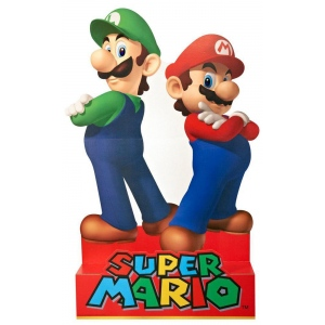 Advanced Graphics Super Mario Party - Mario & Luigi Standup - 5' Tall