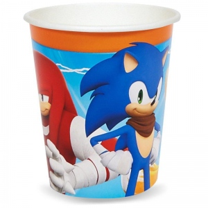 Birthday Express Sonic Boom 9 oz. Paper Cups