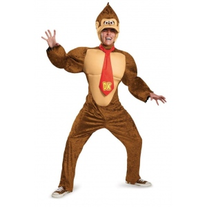 Disguise Super Mario Brothers Donkey Kong Deluxe Adult Costume X-Large