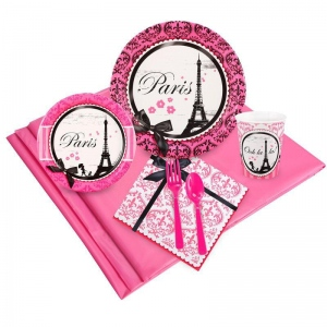 Birthday Express Paris Damask Party Pack