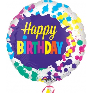 Mayflower Distributing Happy Birthday Splatters Foil Balloon