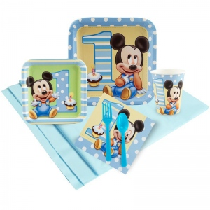 Mickey Mouse 1st Birthday Party Pack: Multi-colored, Birthday