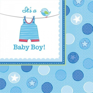 Amscan Baby Shower Boy Shower With Love Lunch Napkins (16)