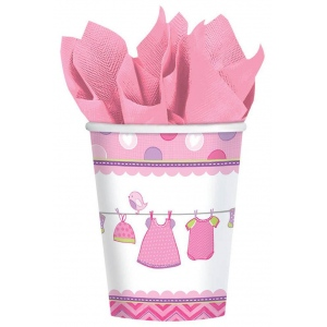 Amscan Baby Shower Girl Shower With Love 9oz. Cups (8)